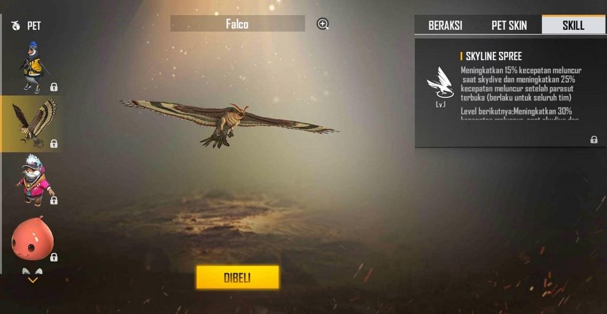 Falco پت جدید فری فایر
