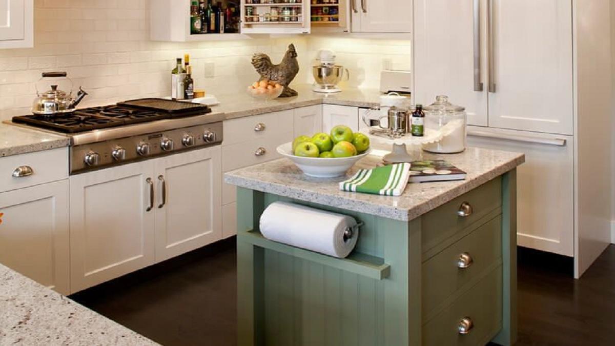 طراحی کابینت برای آشپزخانه های کوچک در جهت بزرگتر نشان دادن فضا